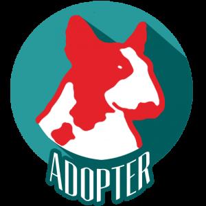 Icône avec une tête de chien - contacts pour les adoptions